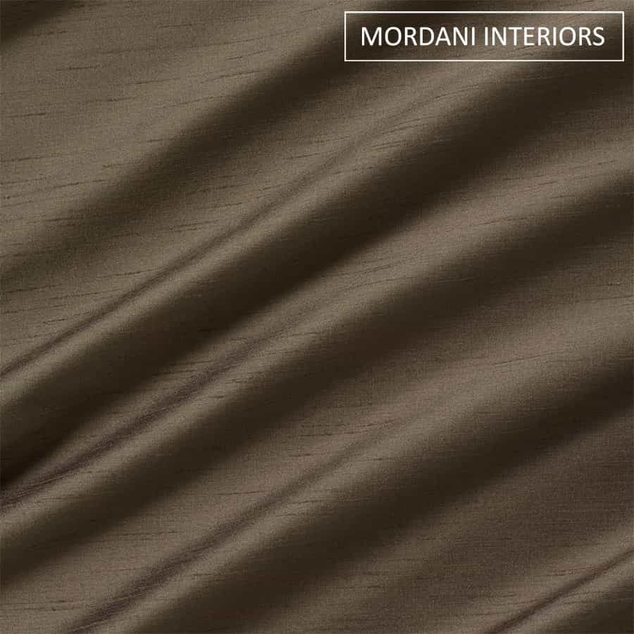 Brown Silk Curtain and Drapes