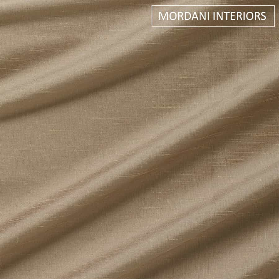 Cotton Duck Beige Silk Curtain and Drapes