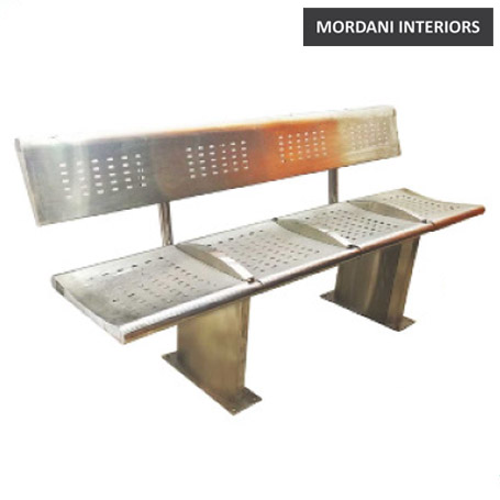 Aspen 4 Seater Steel Metro Waiting Area Bench with Back Support