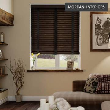 Matured Brown Oak Brushed Wooden Venetian Blind