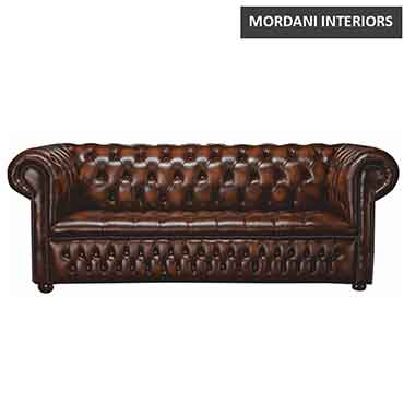 Cimarosa 2 Seater Chesterfield Leather Office Sofa