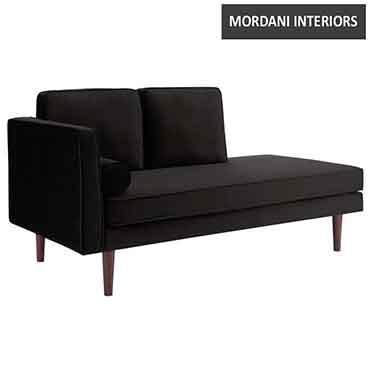 Dahlia Chaise Lounge black
