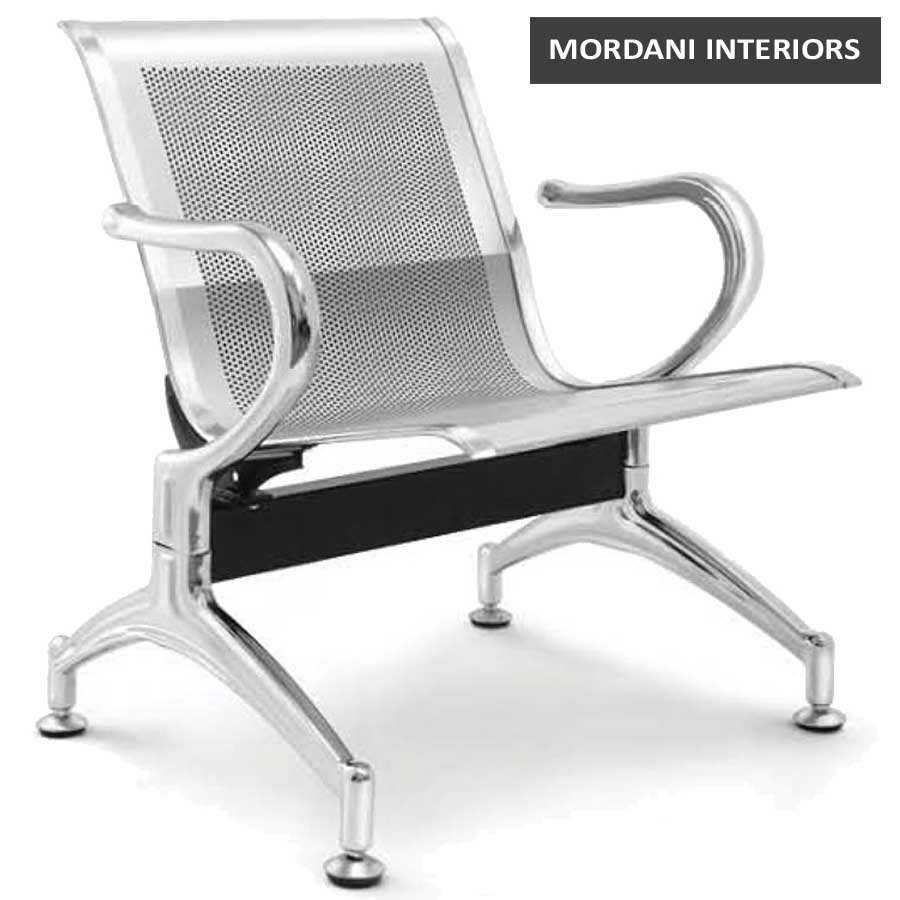 Durant 1 Seater Silver Waiting Area Chair