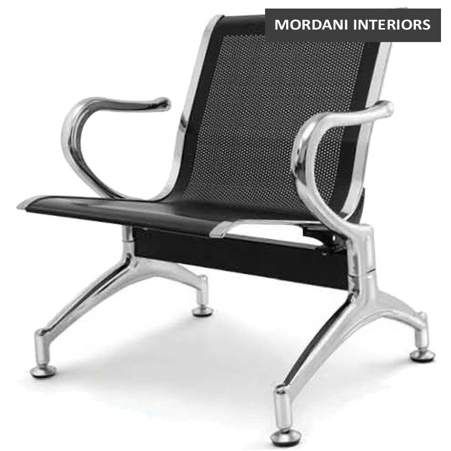 Durant Black 1 Seater Waiting Area Chair