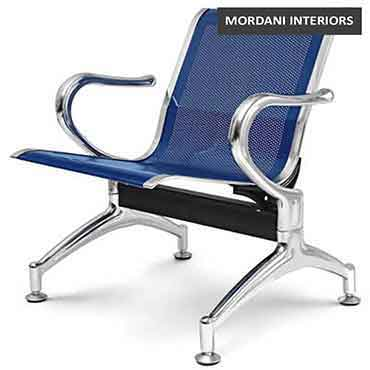 Durant Blue 1 Seater Waiting Area Chair