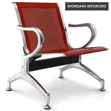 Durant Red 1 Seater Waiting Area Chair