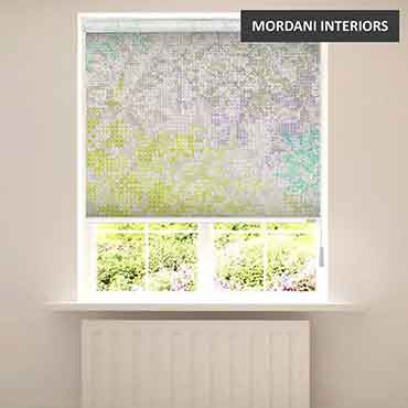 EX-11 Modern Abstract Floral Printed Roller Blinds