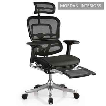Ergohuman High Back Ergonomic Office Chair With Footrest