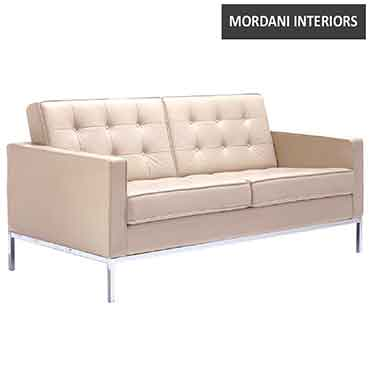 Giant 2 Seater Leather Office Sofa