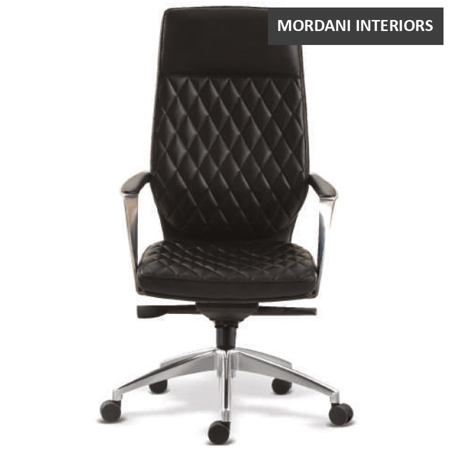 Gustav High Back Leather Chair