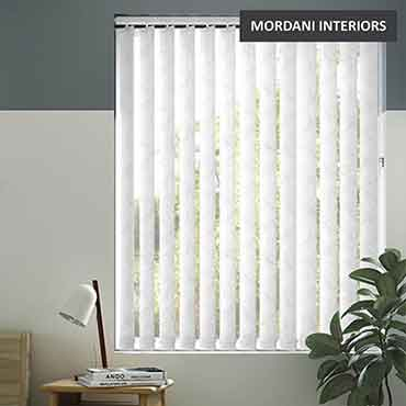 Ivory White Vertical Roller Blind