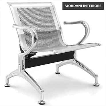 Jarvis 1 Seater Silver Waiting Area Chair