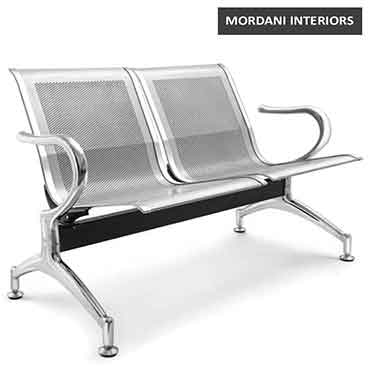 Jarvis 2 Seater Silver Waiting Area Bench