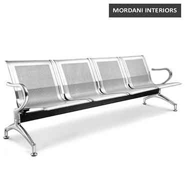 Jarvis 4 Seater Silver Waiting Area Bench