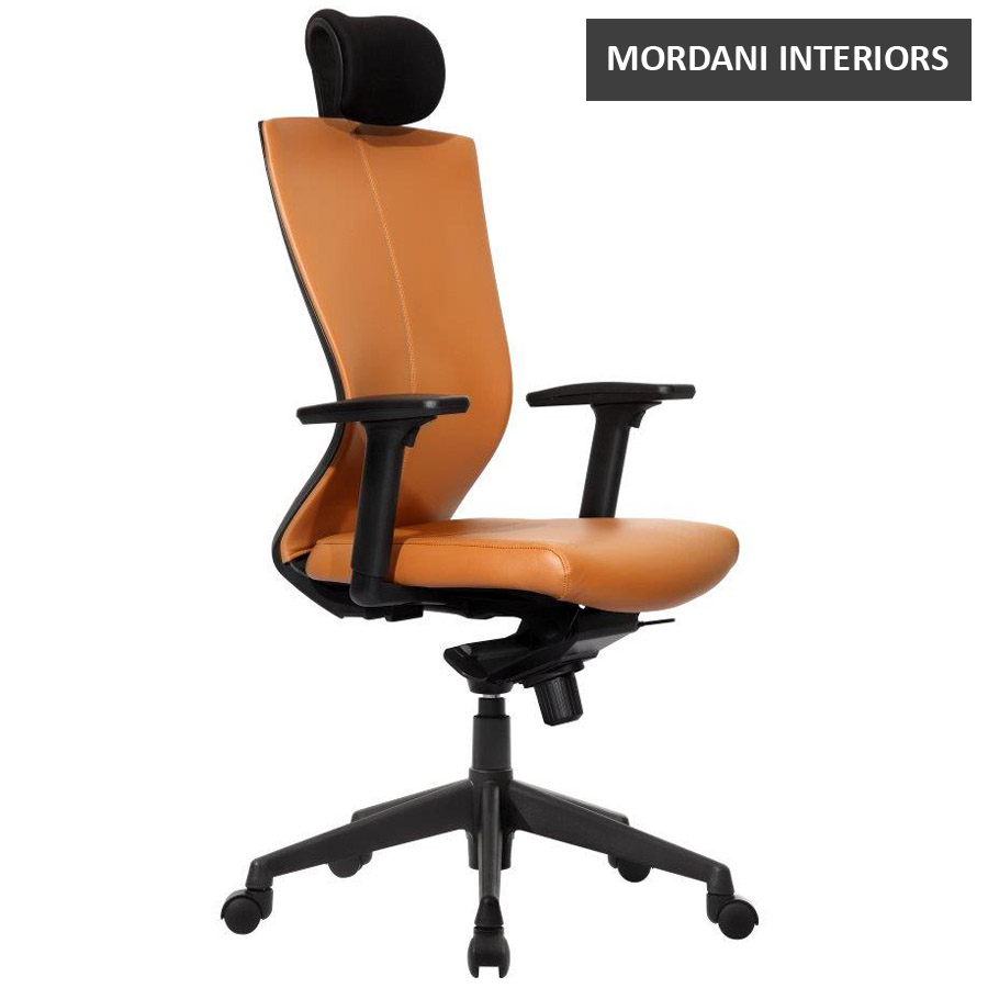Kinetic CX High Back 100% Genuine Leather Ergonomic Office Chair
