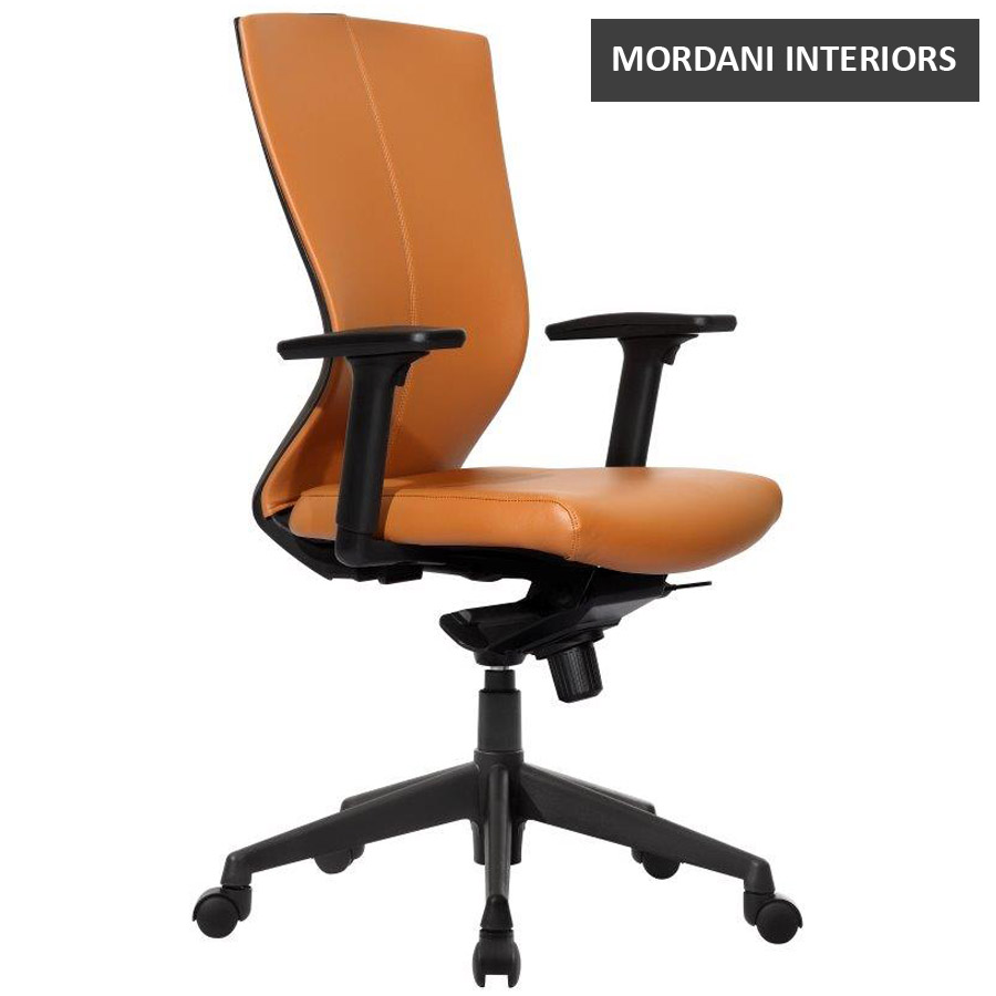 Kinetic CX Mid Back 100% Genuine Leather Ergonomic Office Chair