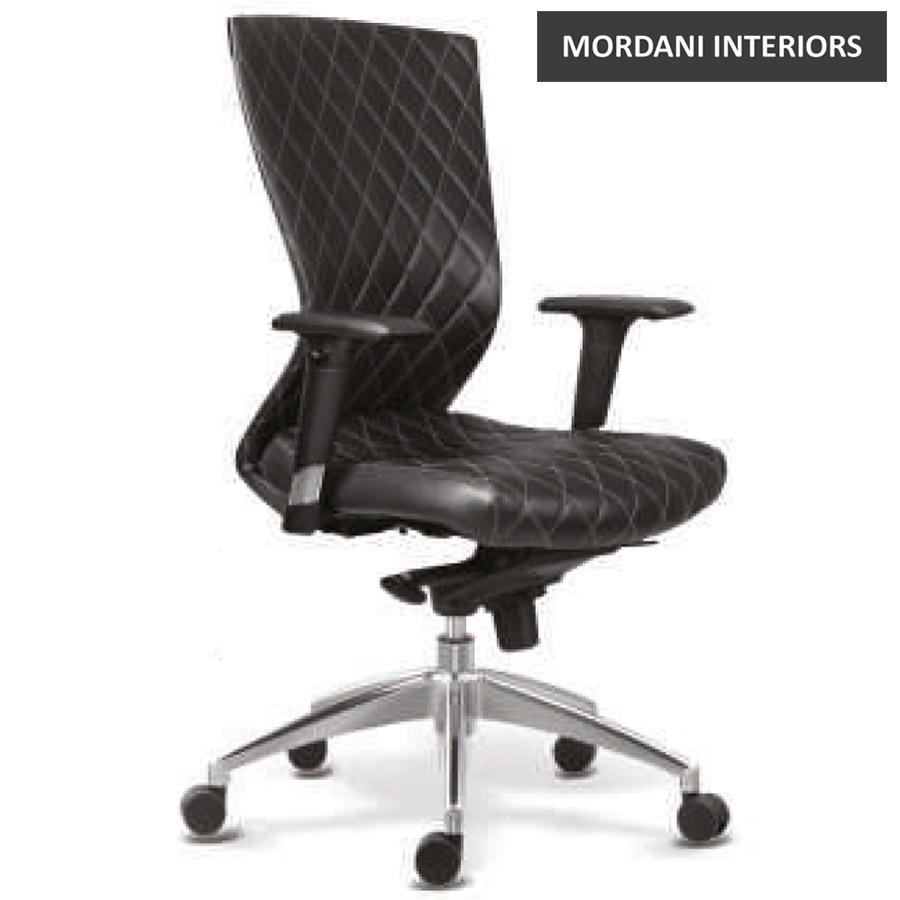 Kinetic DX Mid Back 100% Genuine Leather Ergonomic Office Chair