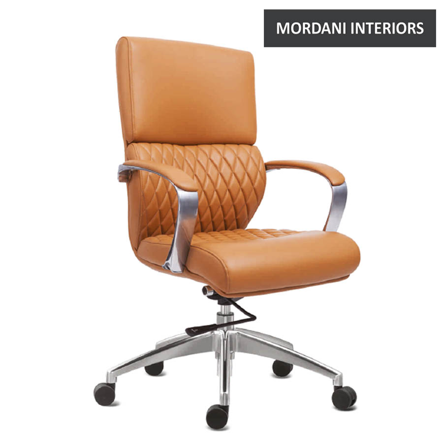 Krogsta Mid Back 100% Genuine Leather Chair