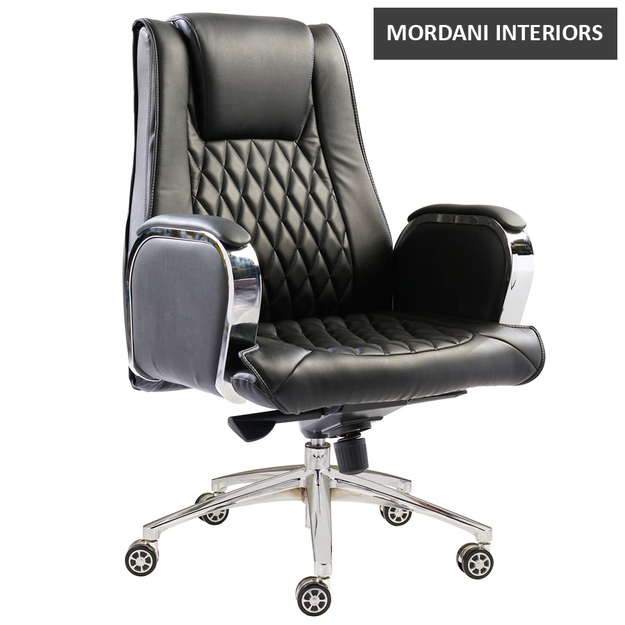 Leisuremod Mid Back Leatherette Chair