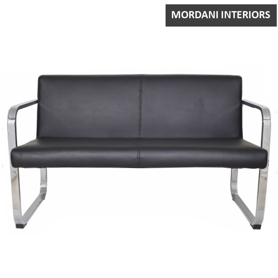 Manhattan 2 Seater Leather Office Sofa