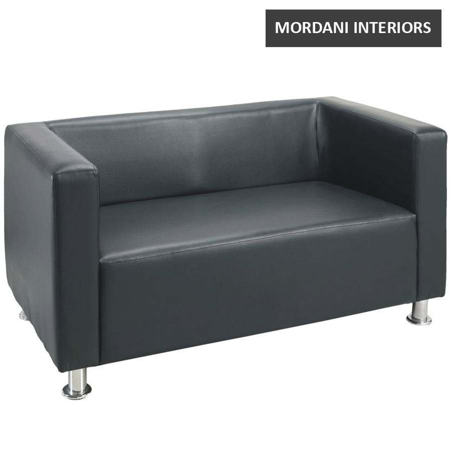 Master 2 Seater Leatherette Office Sofa