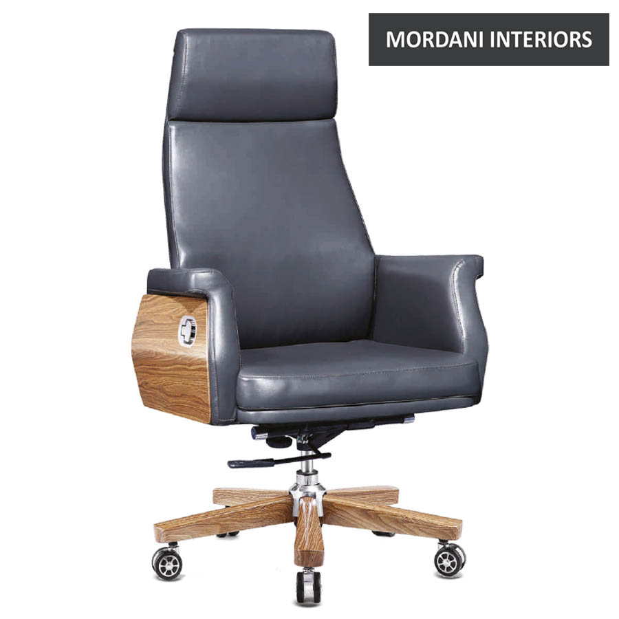 Tuxford High Back 100% Genuine Leather Chair