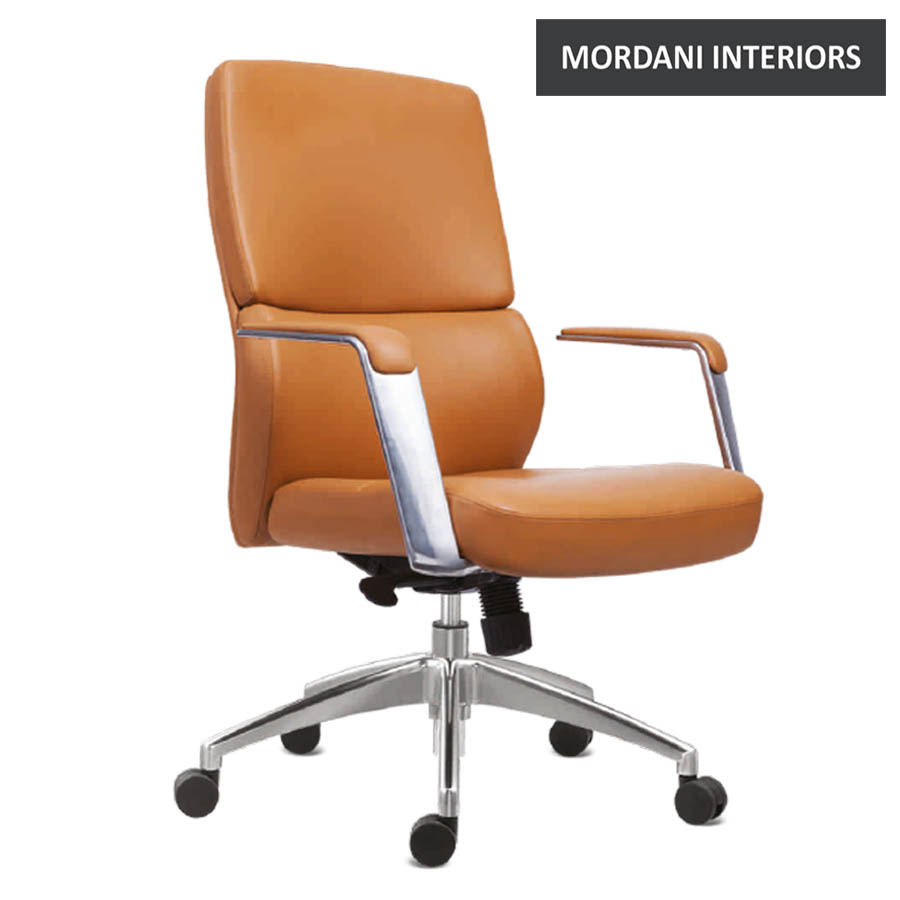 Tyler Mid Back 100% Genuine Leather Chair