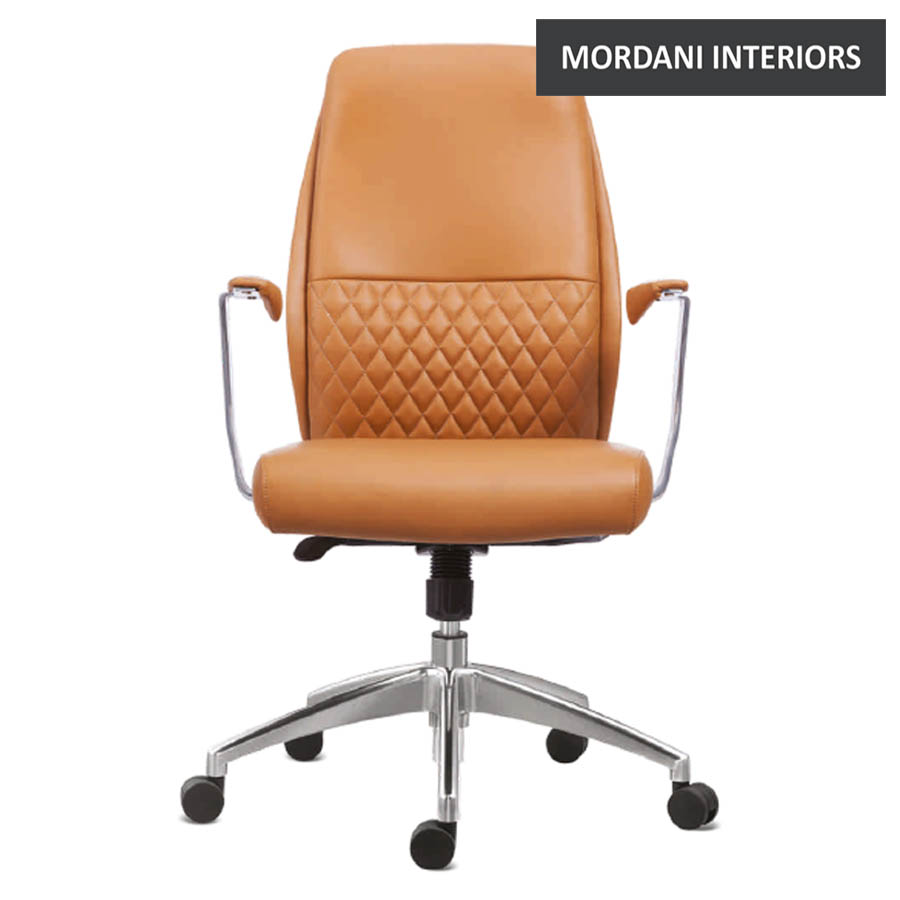 Woolman Mid Back 100% Genuine Leather Chair