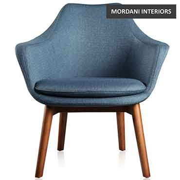Akebo Blue Accent Chair