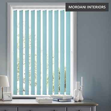 Aqua Mint Vertical Roller Blind