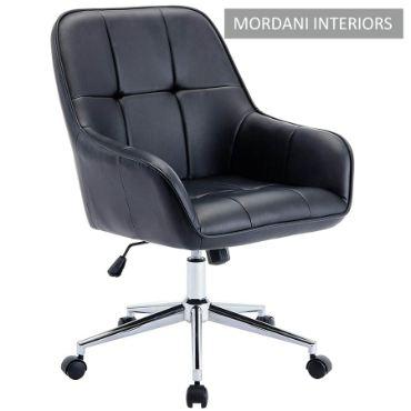 Arlo Black Checks Designer Chair
