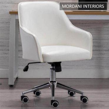Arlo White Designer Chair