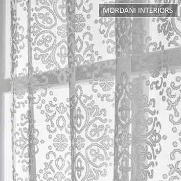 Ash Motiff Sheer Curtain