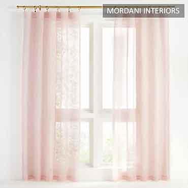 Baby Pink Sheer Curtain