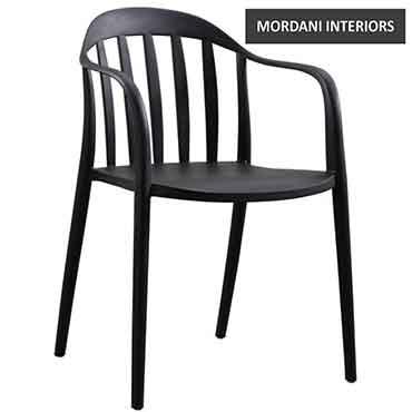 Bascott Black Cafe Chair