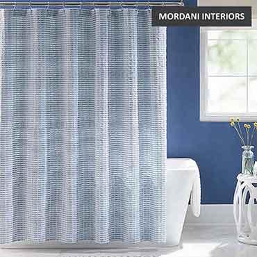 Blue Cotton Curtain