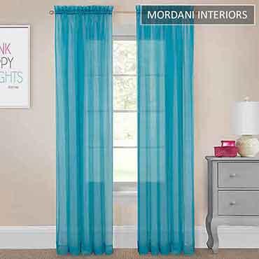 Bright Blue Sheer Curtain