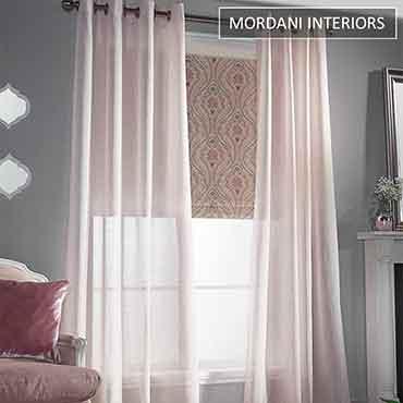 Blush Pink Sheer Curtain