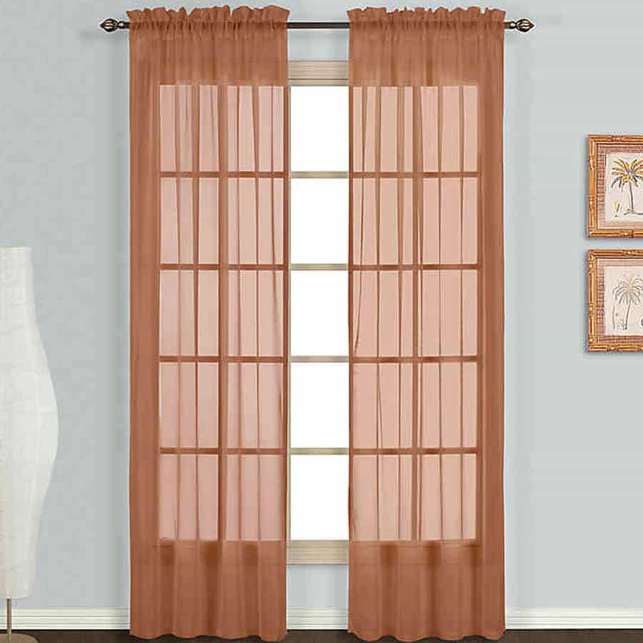 Brown Sheer Curtain