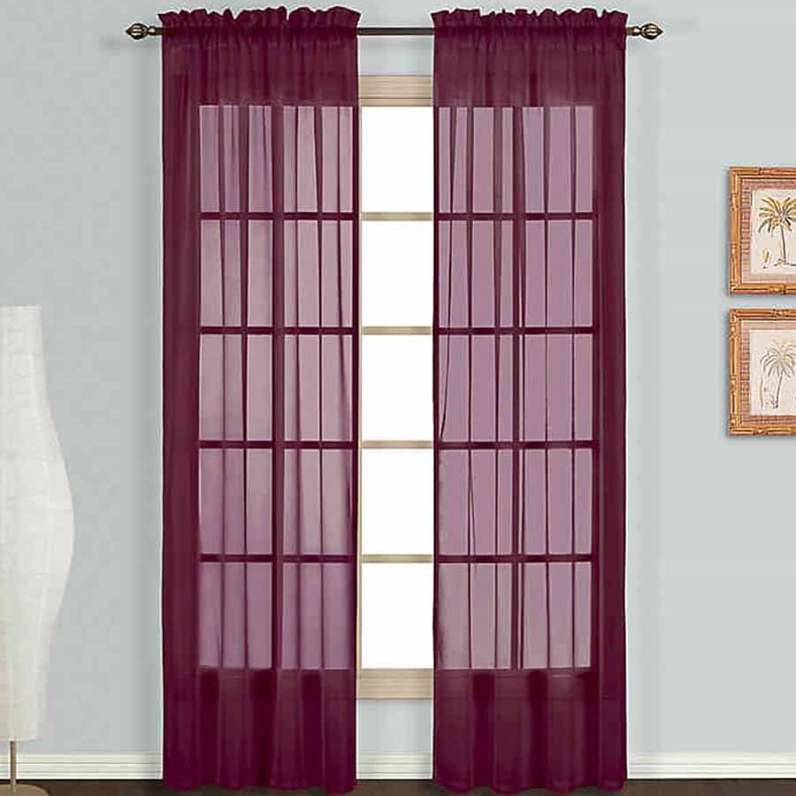 Burgundy Sheer Curtains