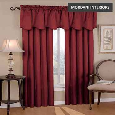 Burgundy Cotton Curtain