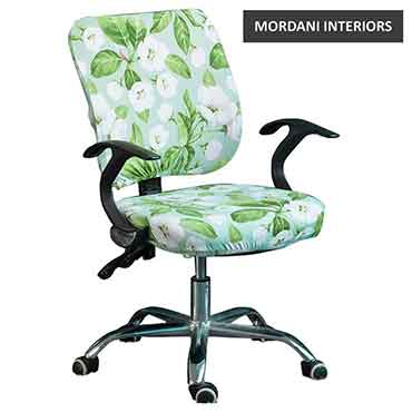 Gibson Green and White Floral Kids Chair