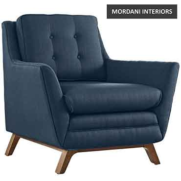 Chantay Navy Blue Accent Chair