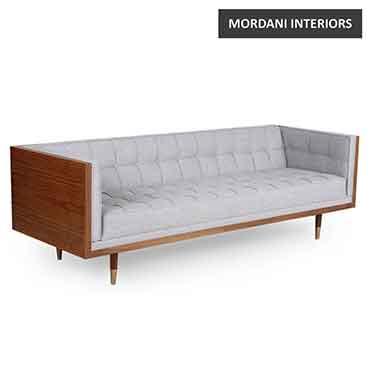 Silver Cordero Veneer Sofa