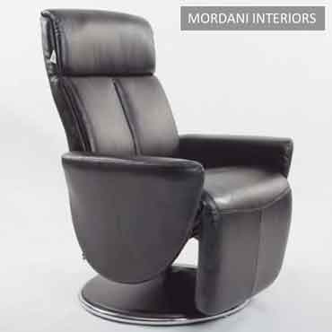 Crandell Black Recliner Chair