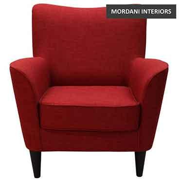 Dalavich Red Club Chair
