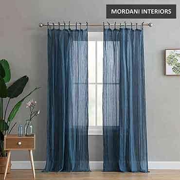 Dark Blue Cotton Curtain