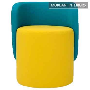 Daron Yellow Pouffe Stool