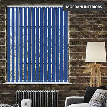 Deep Blue Vertical Roller Blind