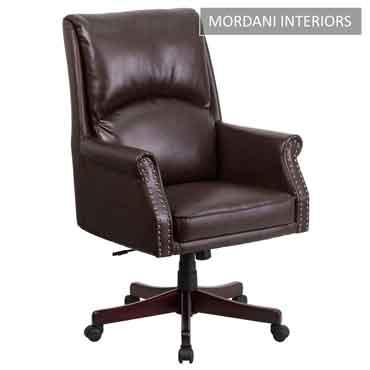 Duke Brown High Back 100% Genuine Leather Chair